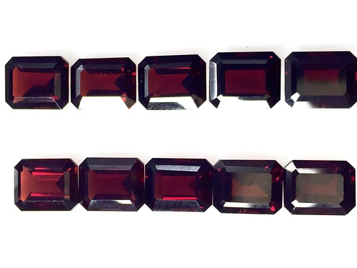 Garnet Cut Gemstones