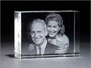3D / 2D engraving on crystal