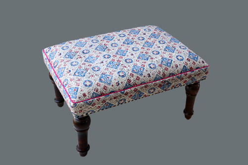 Canvas Wooden Side Stool