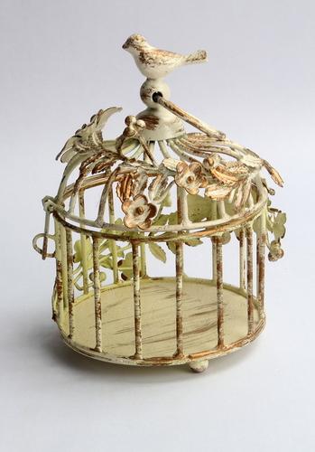 XS OrnateVintage Bird Cage - Ivory