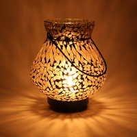 Mosaic Amber Hanging Lamp