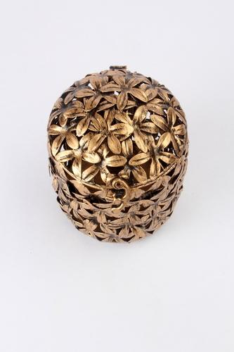 Ornate Flower Round Box