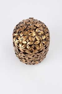 Ornate Flower Round Box