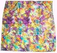 Digital print square silk scarves