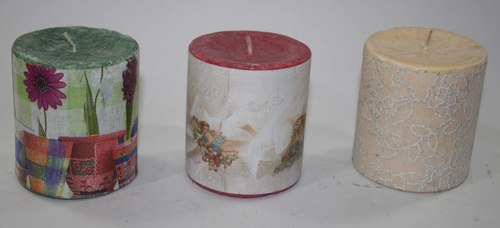 Paper Design Pillar Candles