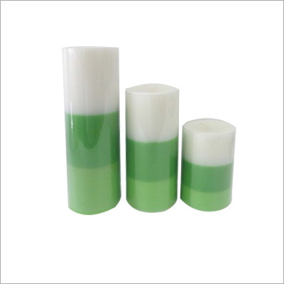 Tricolor pillar Candles