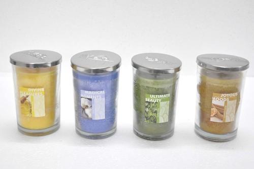 10 Oz Clear Glass Jar Steel Lid Candle