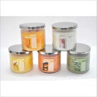 14 Oz Clear Glass Jar Steel Lid Candle