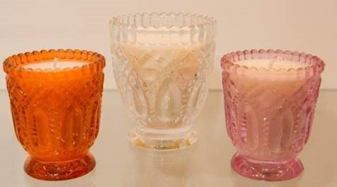Colored Glass Bowls Candles