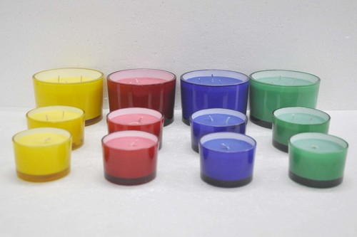 Colored Glass Candle