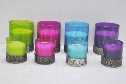 Crackle Glass Candle