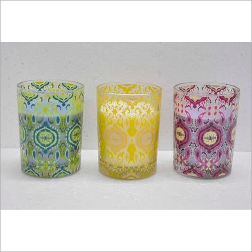Printed Glass Candles