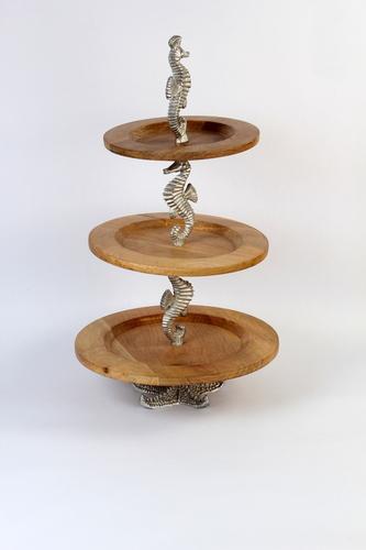 Three Tier Sea Horse Cake Stand