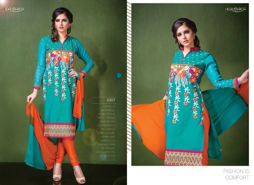 Stylish Cotton Work Salwar Suits Wholesale