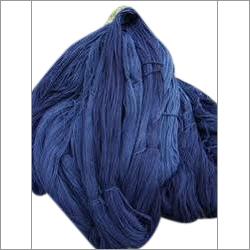 靛蓝被洗染的毛线