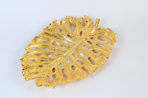 Cheese Plant leaf decorative platter