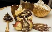 Edible Gold Leaf Used In Cup Cake