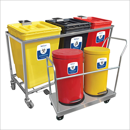 Medical Waste Bins Trolley
