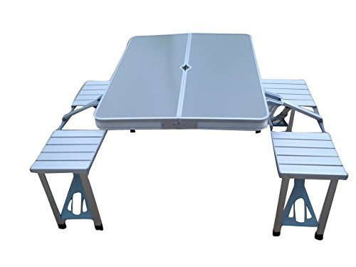 Folding Aluminum Picnic Garden Table