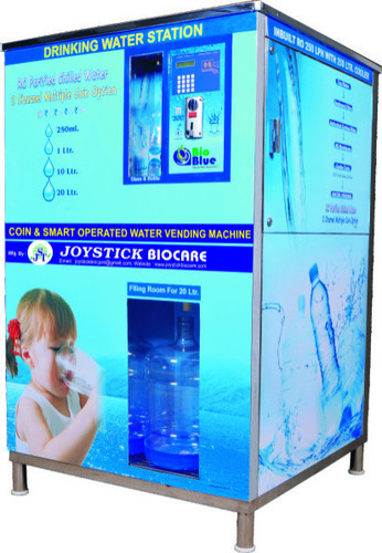 Blue Smart Card Operated Water Vending Machine