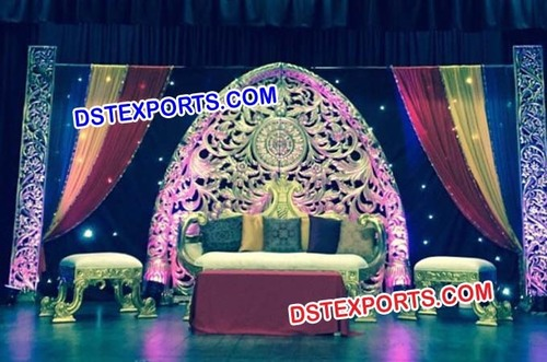 Royal Indian Wedding Stage Set