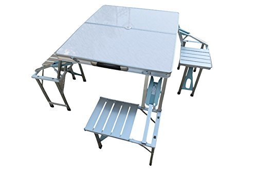 Aluminum Table With 4 Side Chair