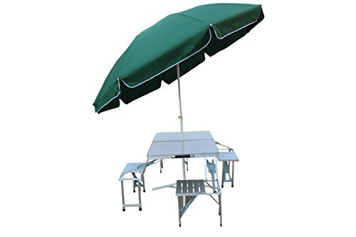 4 Side Chair Aluminum Table With Umbrella