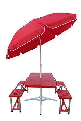 PVC picnic Table with Umbrella