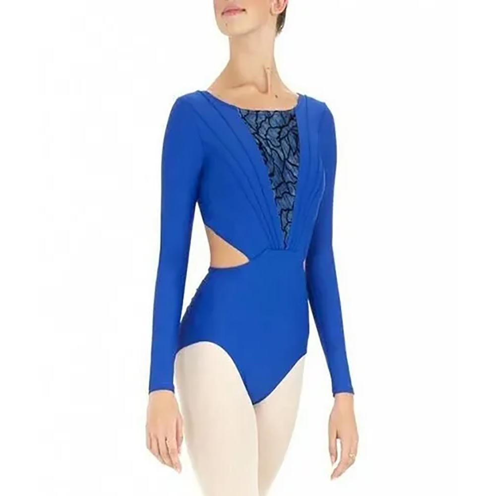 Blue Full Sleeve Leotard Body Sutt