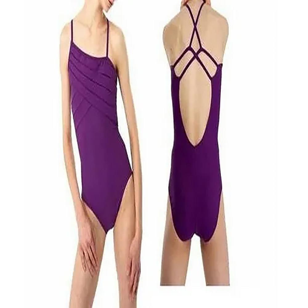 Purple Stripe Leotard Body Sutt
