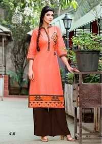 Butterfly Cotton Kurtis
