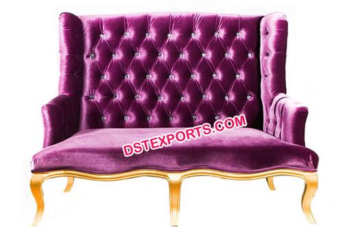 Royal Look Lavender Wedding Tufted Sofa