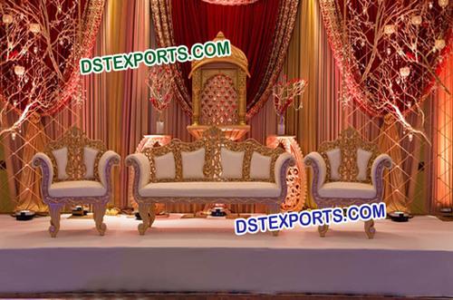 Wedding Wooden Carved Sofa Set