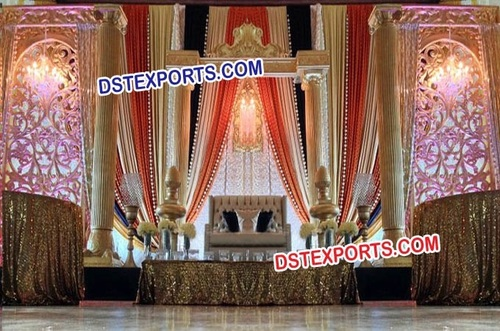 Royal Wedding Decorated Stage Set