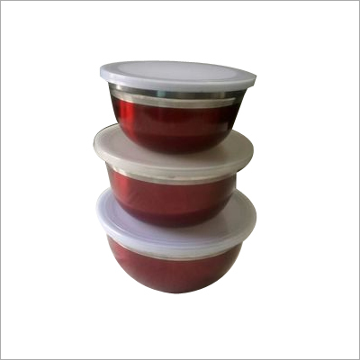 Laquer German Bowls with Lids