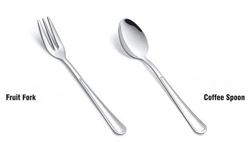 S S Fruit Fork & S S Coffee Spoon