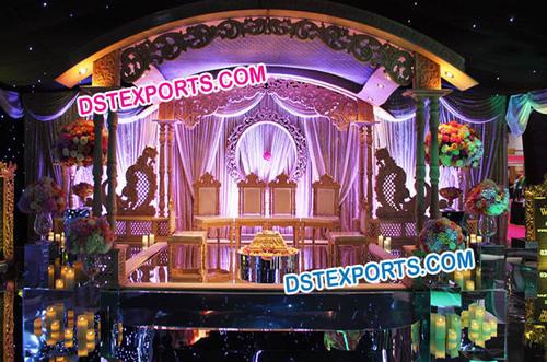 Asian Wedding Decorative Wooden Stage Set