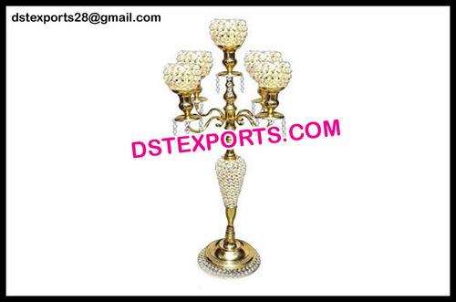 Gold Crystal Wedding Candelabra