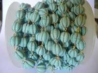 TURQUOISE BEAD CHAIN WITH WATERMELON SHAPE