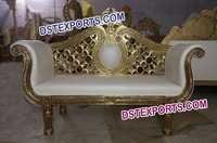 Wedding Bride Groom Gold Metal Two Seater