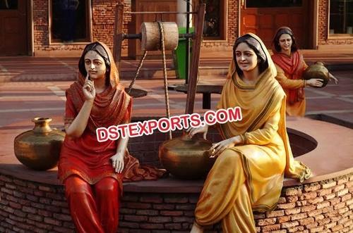 Punjabi Village Theme Fiber Statue