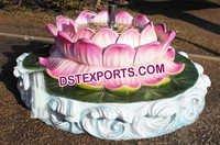 Fiber Lotus Water Fountain