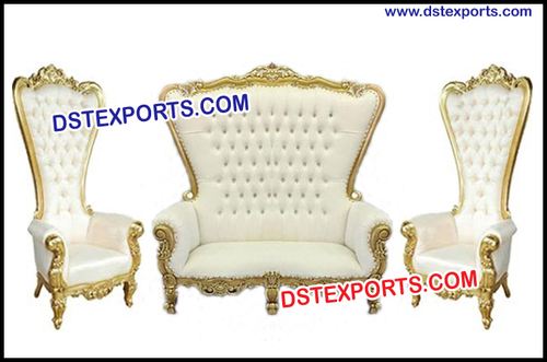 Astounding Wedding Event High Back Throne Chair Sofa Set D S T Gmtry Best Dining Table And Chair Ideas Images Gmtryco