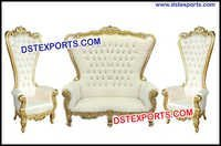 Wedding Event High Back Throne Chair Sofa Set