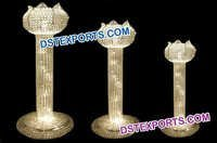 Lotus Wedding Metal Crystal Pillars