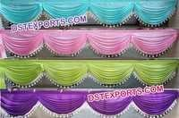 Colorful Design Wedding Backdrop Beautiful Swags