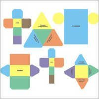 Paper Net of Solid Shapes For Mathematics