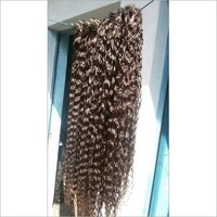Natural Curly Weft Hair Extension