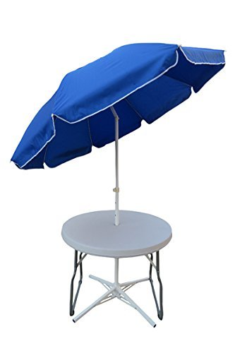 Round Folding Table with 7' Umbrella