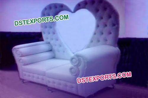 Beautiful Heart Shape Leather Tufted Sofa